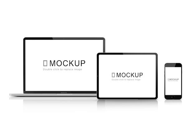 デジタルデバイスパックのモックアップ Premium Psd