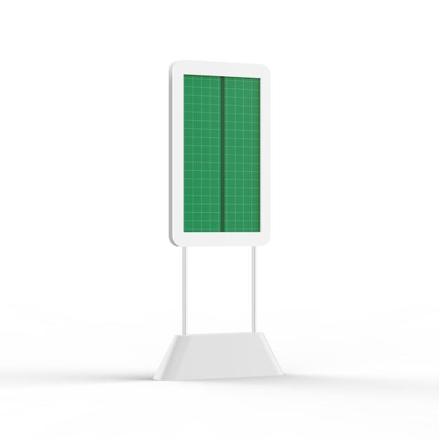 Digital kiosk mockup - half side vie Premium Psd