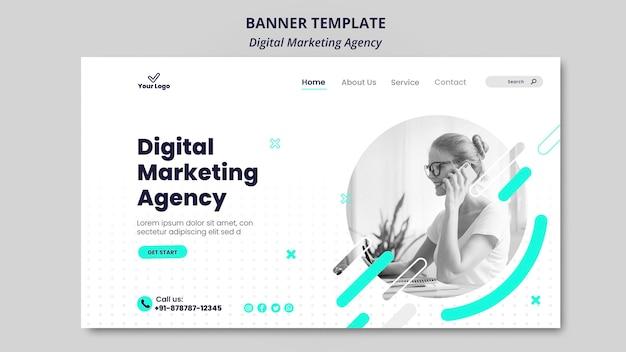 Banner agenzia di marketing digitale Psd Gratuite