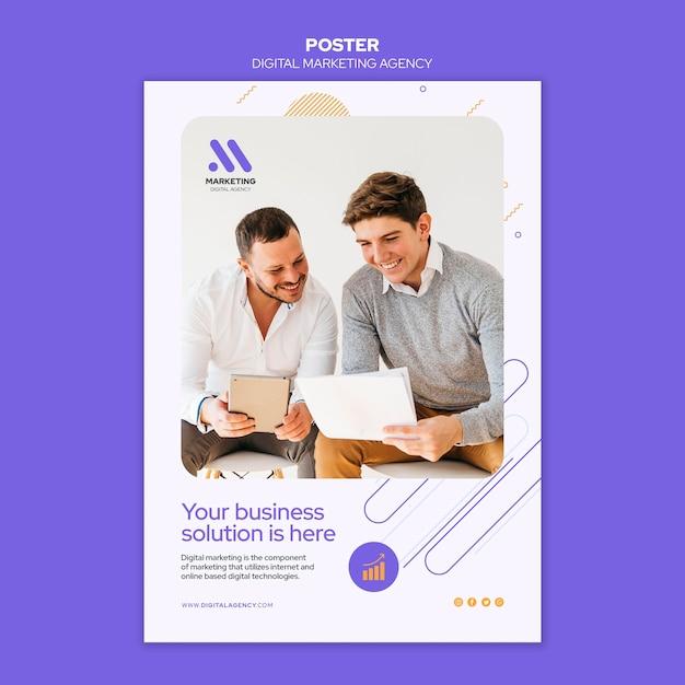 Free PSD | Digital marketing agency poster template