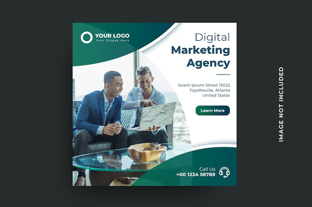 Digital marketing agency social media banner template Premium Psd