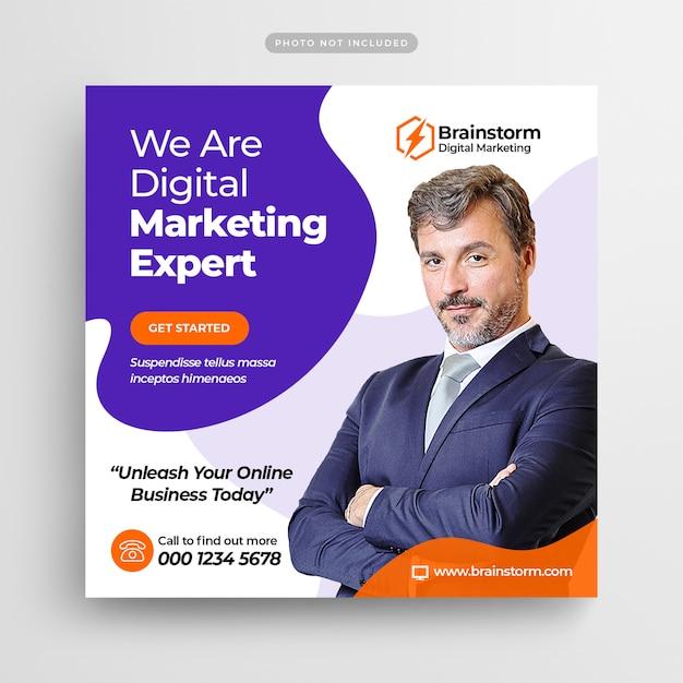 Digital marketing agency social media post & web banner