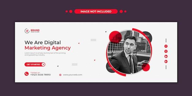 Digital marketing agency social media web banner or square flyer template Premium Psd