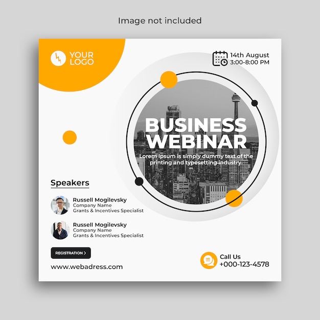 Digital marketing business webinar conference banner Premium Psd