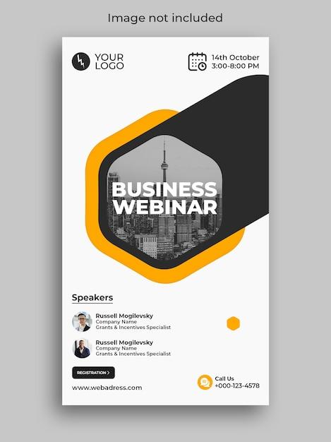 Digital marketing business webinar conference instagram story Premium Psd