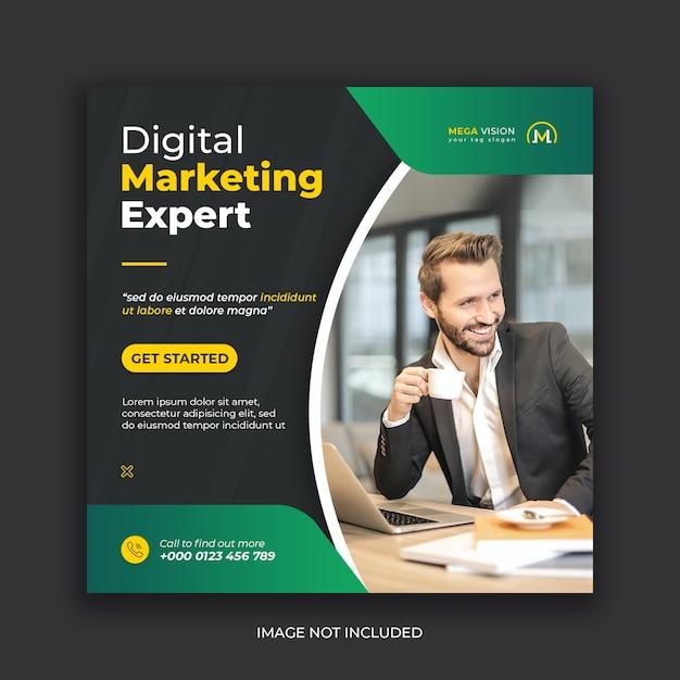 Digital marketing corporate instagram social media post template Premium Psd