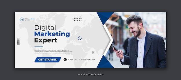 Digital marketing corporate social media facebook cover template Premium Psd