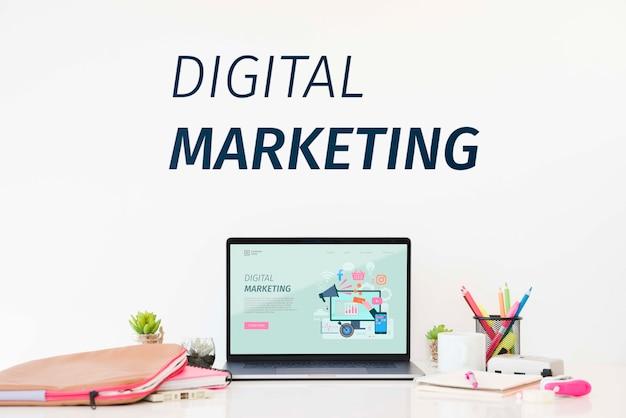 Концепция цифрового маркетинга Бесплатные Psd