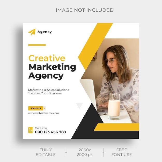 Modello di feed di post instagram di marketing digitale Psd Gratuite