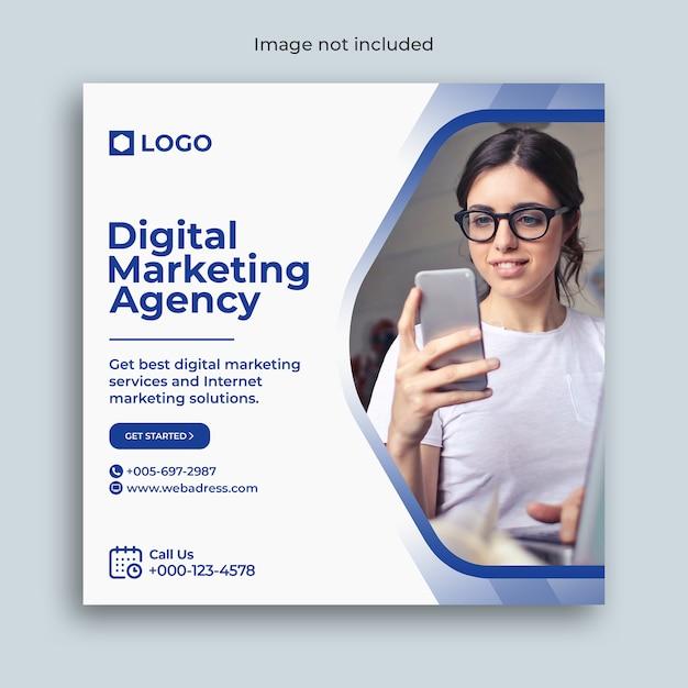 Digital marketing instagram social media post banner Premium Psd
