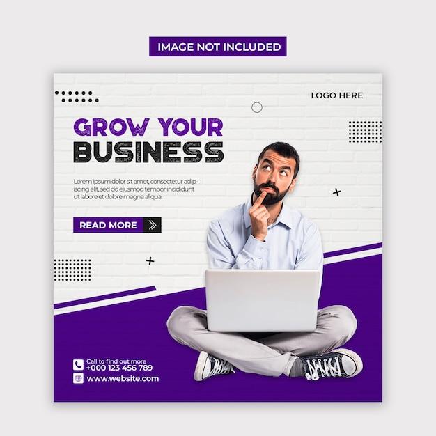 Digital marketing social media and instagram post template Premium Psd