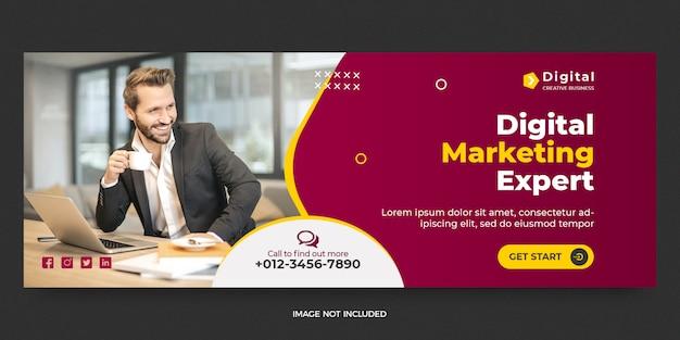 Digital marketing social media post banner template Premium Psd