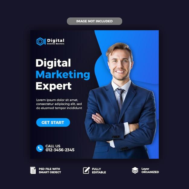Digital marketing social media post template Premium Psd