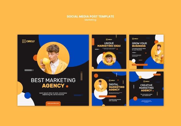 Post sui social media di marketing digitale Psd Gratuite