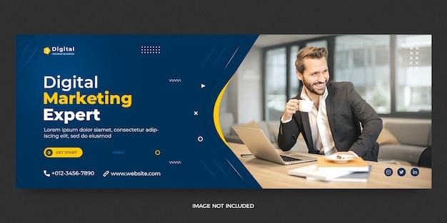 Digital marketing web and facebook cover social media post banner template Premium Psd