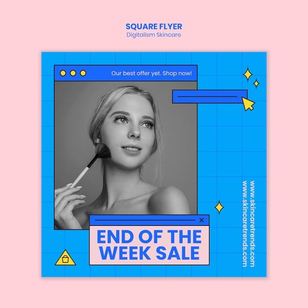 Цифровая тема для ухода за кожей Бесплатные Psd