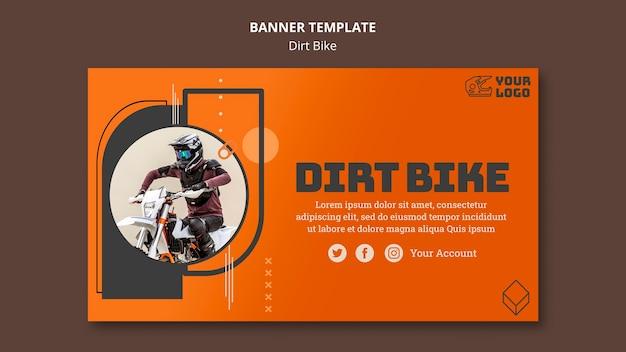Dirt bike banner template Free Psd