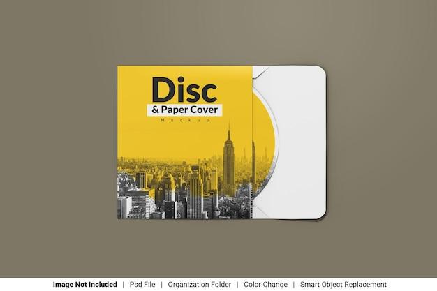 Диск с бумажной обложкой мокап Premium Psd