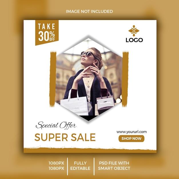 Discount sale banner for social media Premium Psd