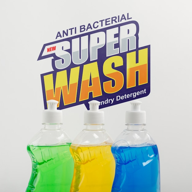 Dish washing soap with mock-up Free Psd