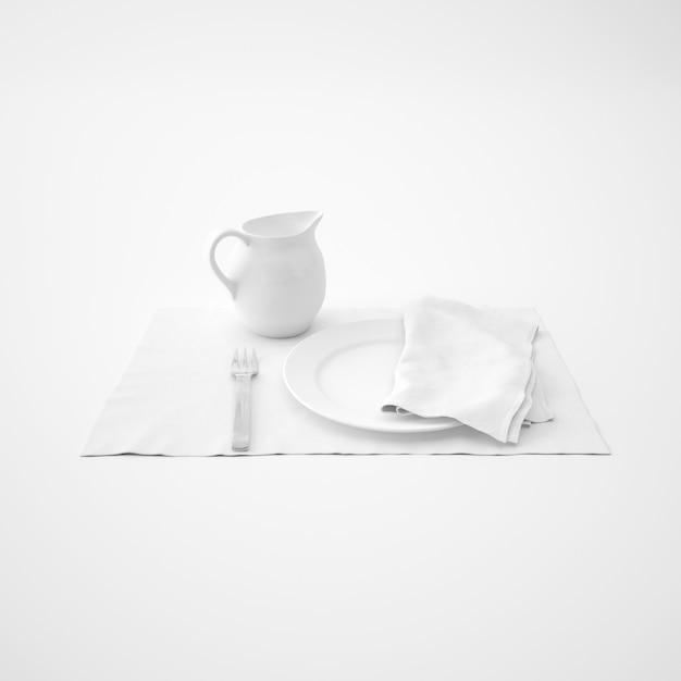 Посуда, вилка и салфетка Бесплатные Psd