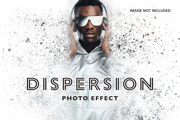 Dispersion photo effect template Premium Psd