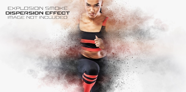 Dispersion photo effect with smoke and dust Premium Psd