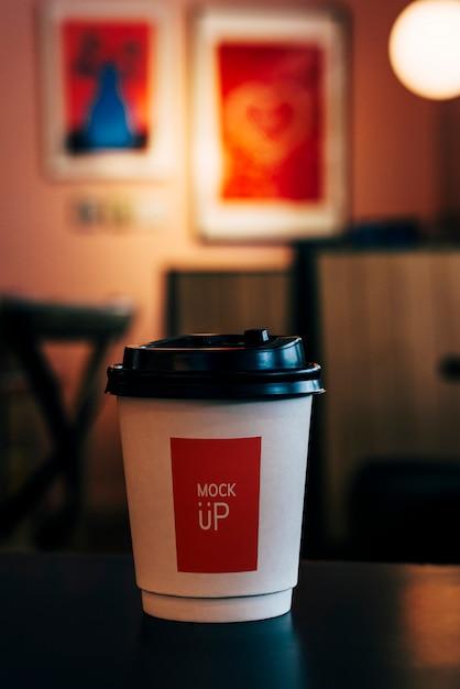 일회용 커피 종이 컵 모형 디자인 무료 PSD 파일