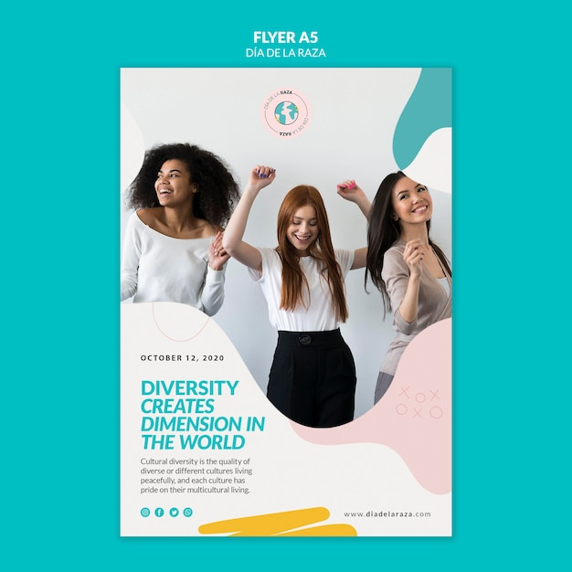 Diversity creates dimension in the world flyer Free Psd