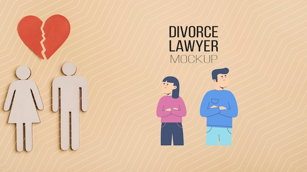 Divorce lawyer concept mock-up Free Psd