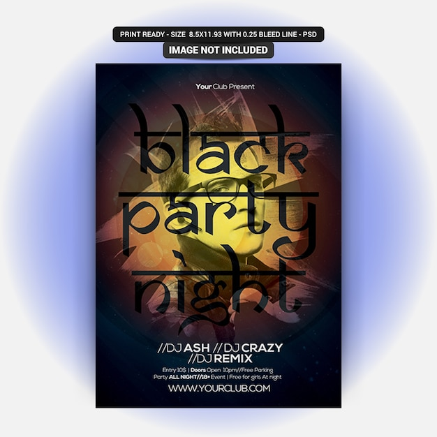 Dj black party night Premium Psd