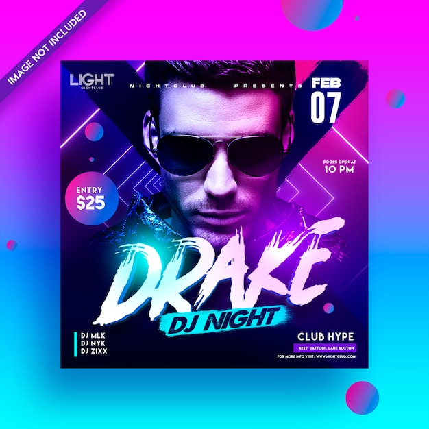 Dj club party flyer Premium Psd