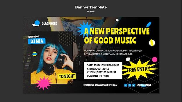 Modello di banner musicale dj Psd Gratuite