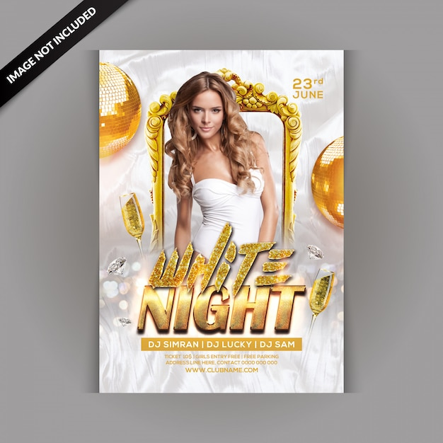 Dj party flyer psd file   premium download.