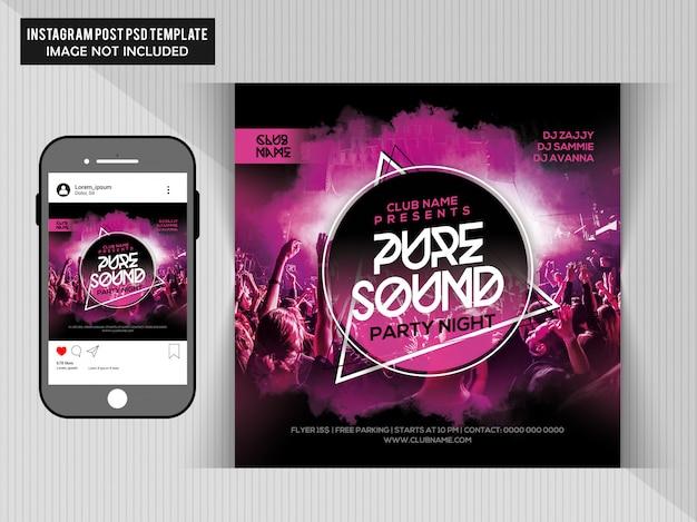 Dj party flyer Premium Psd