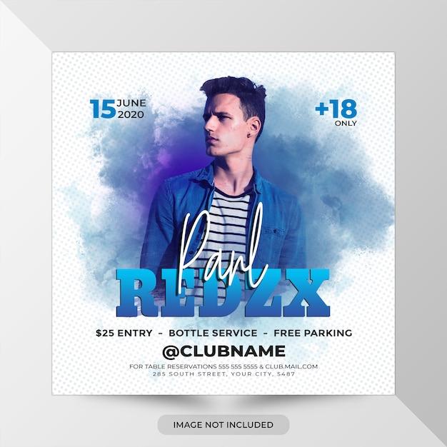 Шаблон флаера для вечеринки dj remix Premium Psd
