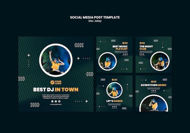 Dj 소셜 미디어 게시물 템플릿 무료 PSD 파일