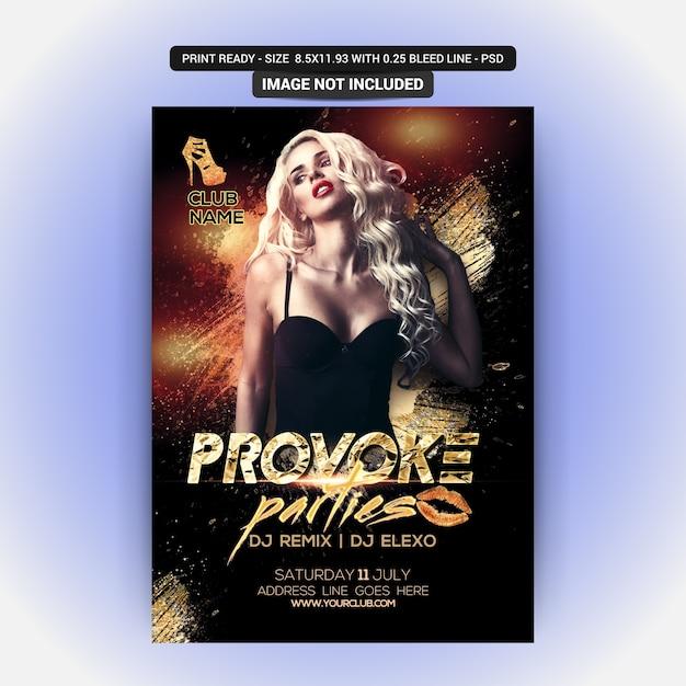 Djパーティーフライヤー Premium Psd