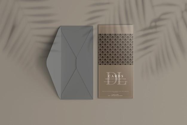 Dlポストカードまたは招待状のモックアップ Premium Psd