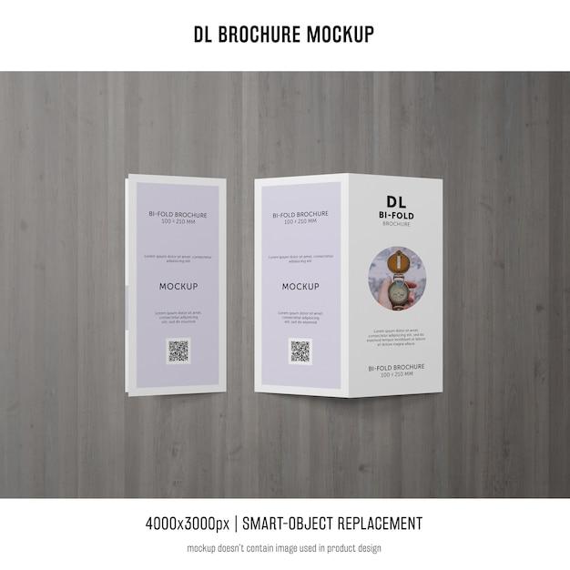 Портрет макет брошюры dl Бесплатные Psd