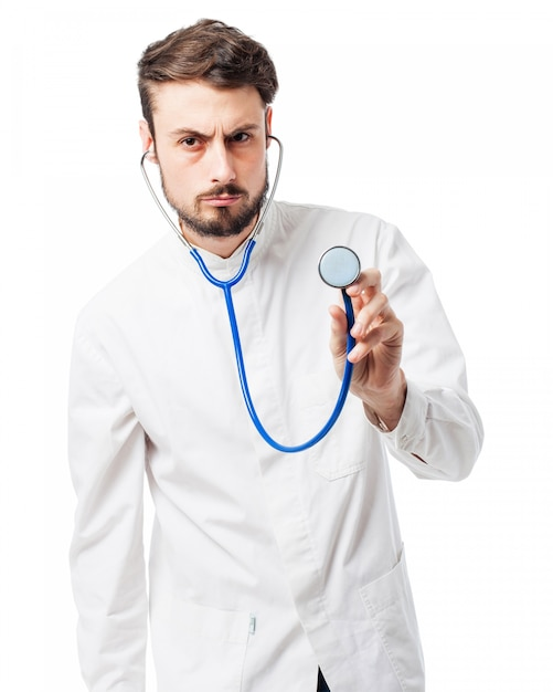 Doctor with a stethoscope PSD file   Free DownloadDoctor Stethoscope Comment