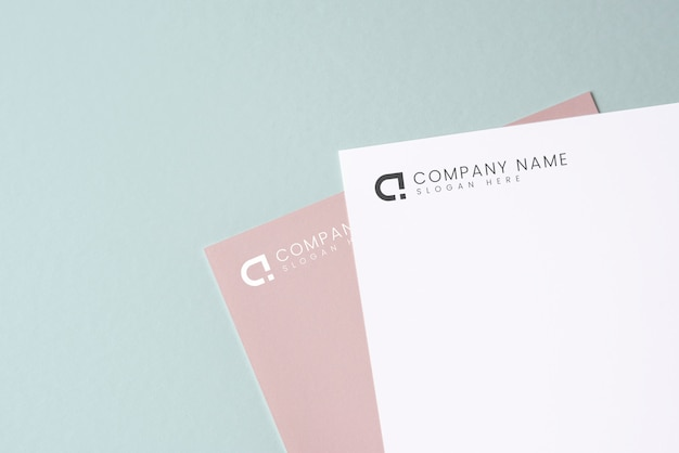 Document mockup on a plain background Free Psd