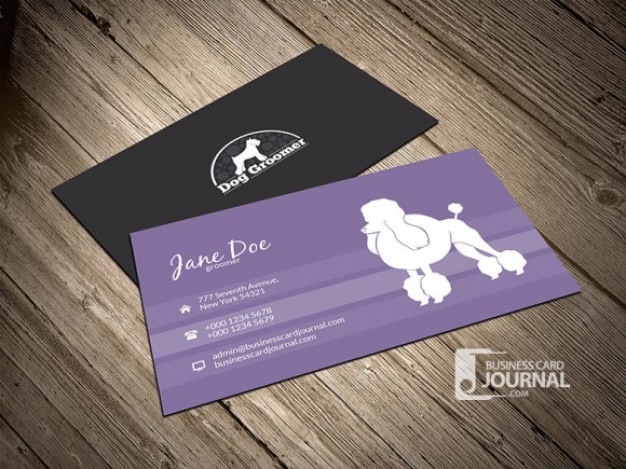 Dog Business Card Template Psd File Free Download