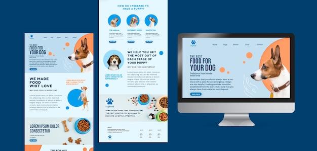 개밥 앱 및 웹 사이트 템플릿 무료 PSD 파일