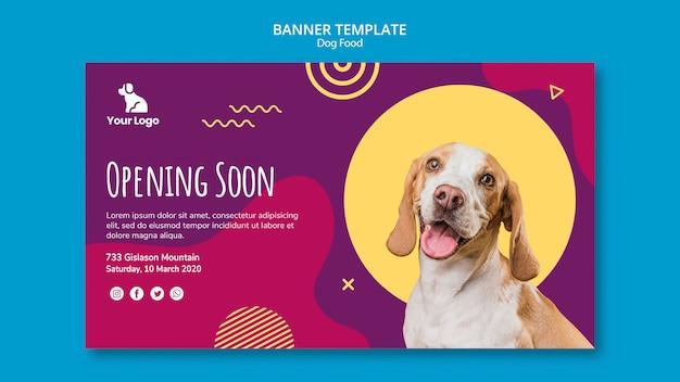Modello di banner di cibo per cani Psd Gratuite