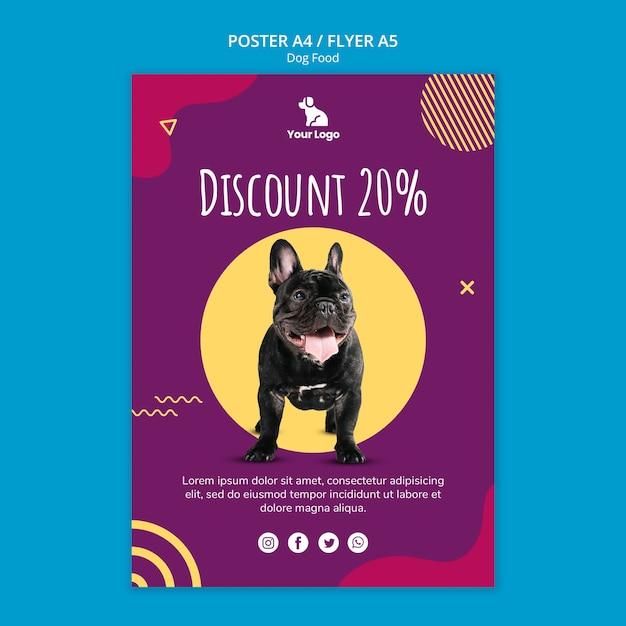 Modello del manifesto di cibo per cani Psd Gratuite