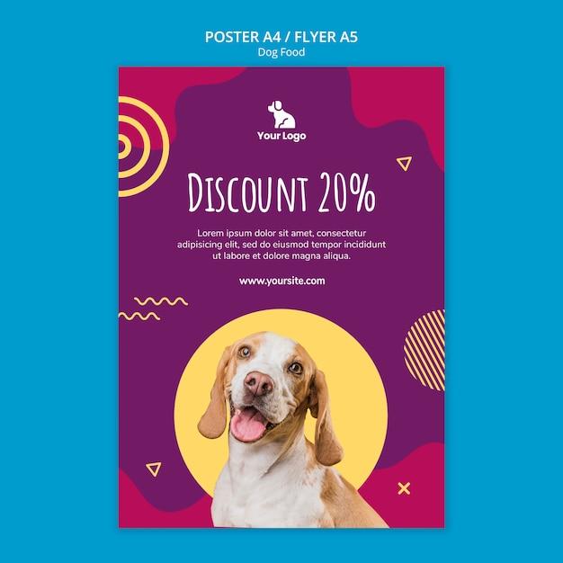 Poster di modello di cibo per cani Psd Gratuite