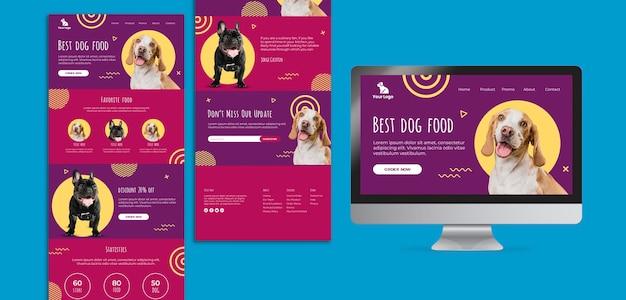 Sito web di cibo per cani e modello di interfaccia app Psd Gratuite