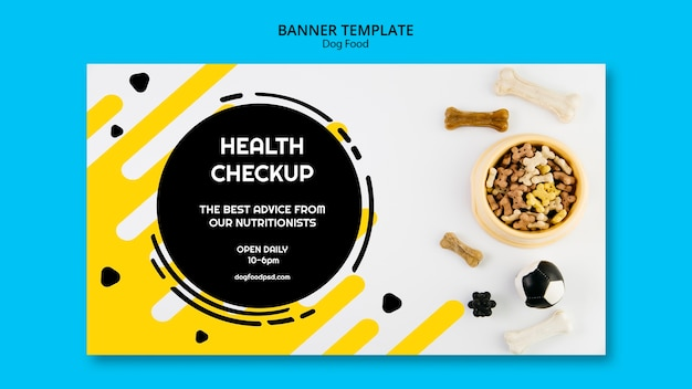 Dog health check up banner template Free Psd