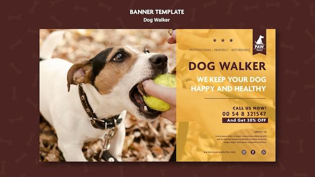 Concetto di banner dog walker Psd Gratuite